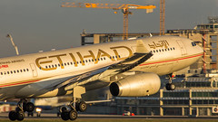 """Etihad A330 arriving at Brussels airport in brilliant morning light • <a style=""""font-size:0.8em;"""" href=""""http://www.flickr.com/photos/125767964@N08/16464784044/"""" target=""""_blank"""">View on Flickr</a>"""