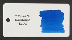 Noodler's Bernanke Blue - Word Card