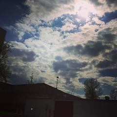Thursday evening sky.