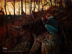 Rugged explorations (tycampbe) Tags: park camera new travel trees sunset portrait people woman usa mountain abstract art nature digital phone state debris north fine atmosphere explore land carolina popular journalism textured morrow creations iphone constant 500px iphoneography ifttt