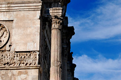 Arch of Constantine (MoniqueSherman) Tags: sky people italy cloud rome spring recycled details carving victory constantine greece springbreak marble dedicated emperor archofconstantine 2015 constintine collums collasium italyandgreece
