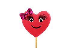 girl your my sweetheart (kelxkel) Tags: red food love beauty fun happy eyelashes heart creative lolly celebration bow sweets iloveyou sweetheart lollipop valentinesday heartshape confectionary smileyface pagent googleeyes