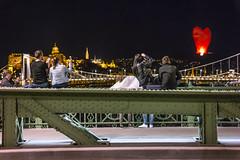 Take off at Budapest (marcell_katona) Tags: city night europe hungary baloon budapest duna danube híd kyte magyarország város éjszaka szadság