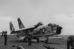 VF-211 F-8E Crusader BuNo 150923, NP-110 (skyhawkpc) Tags: airplane aircraft aviation navy 1967 naval usnavy crusader usn vought ussbonhommerichard cva31 aim9sidewinder np110 150923 f8ef8u2ne vf211fightingcheckmates