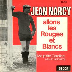1967_jean_narcy_allons_les_rouges (Marc Wathieu) Tags: music belgium belgique coverart vinyl pop cover single record sleeve chanson 45rpm chansonfranaise 45tours vinylcover sleevedesign frenchchanson chansonbelge