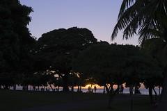 Sunset of Magic Island Lagoon (sugiro15) Tags: sunset hawaii waikiki