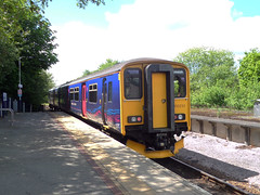 150233 departs Bere Alston (Marky7890) Tags: station train railway devon sprinter dmu tamarvalleyline fgw class150 berealston 150233 2p89
