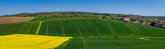 352-Pano (Waldema) Tags: houses sky g sony traces crop fe f4 rapeseed 70200mm oss ilce7