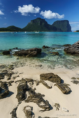 Lord Howe Island paradise (NettyA) Tags: blue beach sand australia clear nsw day8 unescoworldheritage lordhoweisland thelagoon 2016 lhi mtgower mtlidgbird janetteasche lordhoweforclimate