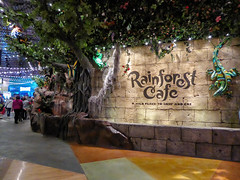 Land and Sea... (Nicholas Eckhart) Tags: usa retail mi america mall us interior auburn hills massive stores outlets rainforestcafe greatlakescrossing outletmall 2016