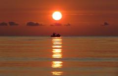 IMG_0039x (gzammarchi) Tags: barca italia mare alba natura sole paesaggio ravenna riflesso monocrome lidodidante