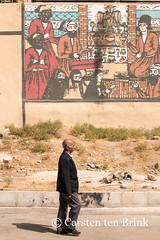 Shiraz: man and mural (10b travelling) Tags: art persian mural asia asien iran middleeast persia shiraz asie iranian 2014 neareast moyenorient naherosten mittlererosten tenbrink carstentenbrink westernasia iptcbasic 10btravelling