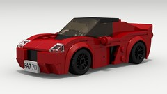 Lotus Elise (Tom.Netherton1) Tags: city classic cars car sport digital speed vintage european lego lotus elise britain pov designer convertible super legos download british coupe supercar dropbox compact speedster povray 2000s ldd lxf legocity legodigitaldesigner 2010s
