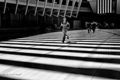 Help......Get Me Out Of Here....... (CVerwaal) Tags: nyc blackandwhite usa ny newyork architecture shadows batteryparkcity santiagocalatrava