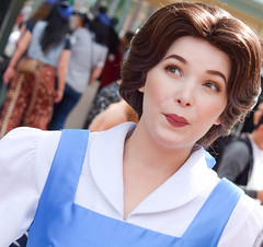 Belle (chipanddully) Tags: gate princess disneyland main belle bluedress