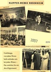 Kleppermode 1957 (hpdyko) Tags: fashion 1957 raincoat regenmantel kleppermantel kleppermode