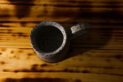 Stoneware mug (Nobuka) Tags: pottery lowkey stoneware canon7d