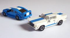 Shelby GT350 vs. Mustang GT (MOCs & Stuff) Tags: city ford speed town lego ben shelby mustang gt champions alternate gt350 er0l