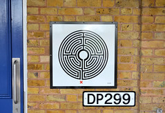 Labyrinth 11/270 (R~P~M) Tags: uk greatbritain england art station train unitedkingdom railway londonunderground labyrinth wallinger enamel pinner vitreousenamel
