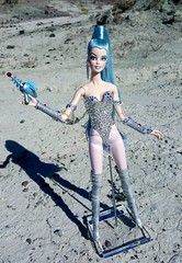 Space Babe (ozthegreatandpowerful) Tags: color girl fashion doll body ooak space alien cream barbie babe infusion custom royalty leotard celeste rosaline repaint reroot twilightsaga