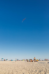 Ainslie flying her BB-8 kite at the beach (skingld) Tags: summer kite newyork day unitedstates daytime jonesbeach ainslie wantagh