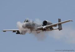 A-10 Thunderbolt firing the GAU-8 gun at the range (JetImagesOnline) Tags: a10 thunderbolt ii fairchild republic gau8 cannon warthog hog hawgsmoke 2016 barry goldwater range arizona jet aircraft airplane ground attack