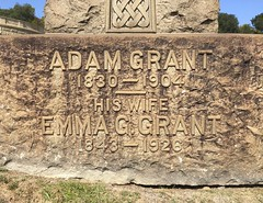 Adam Grant, 1904. Emma Grant, 1926 (Stewf) Tags: cemetery gravestone lettering sans 1900s mountainviewcemetery curvedsurface attachedletters