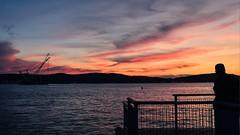 Serene Sky (Lojones13) Tags: sky newyork silhouette clouds outdoor hudsonriver serene bluehour
