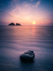 Ripples (Timothy Gilbert) Tags: longexposure sunset beach rock cornwall wideangle panasonic ultrawide m43 holywellbay 10stop breathtakinglandscapes gx7 microfourthirds olympus918mmf4056