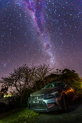 Milkyway and Car (albertchen8888) Tags: longexposure night lexus car star ocean beach milkyway canon