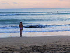 Sexy Sunset (stardex) Tags: kutabeach kuta sea wave sand beach sunset dusk sky lady bali indonesia