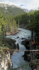 Jasper National Park, Alberta, Canada - ICE(1)6614-33 (photos by Bob V) Tags: park panorama mountains rockies waterfall falls alberta albertacanada jaspernationalpark canadianrockies jasperpark mountainpanorama