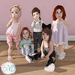 {BiVD} Shy Babes Single Poses (awesomesaucenw) Tags: life baby cute pose children toddler child shy babe sl secondlife second poses td bashful timid toddleedoo