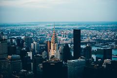 New York - Chrysler at sunset (vincos) Tags: nyc usa newyork skyline landscape skyscrapers chrysler