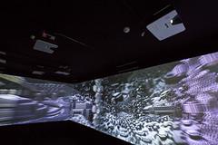 20160627_F0001: A wall of projected illusions (wfxue) Tags: light art wall museum dark projector wide screen exhibition projection shape escher eschermuseum escherinhetpaleis