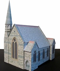 Sunday afternoon (and evening) church [Explored] (kingsway john) Tags: scale church construction model models card oo gauge kt kingsway assembly 176