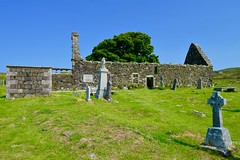 St. Mary's Church (rustyruth1959) Tags: blue sky building tree church grass architecture landscape nikon isleofskye outdoor ruin explore nikkor stmaryschurch dunvegan nikond3200 kilmuir inexplore