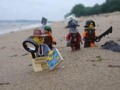 Beach Party (captain_joe) Tags: toy spielzeug 365toyproject lego series14 minifigure minifig pirat pirate cutlass kiel hasselfelde strand beach acebrickman