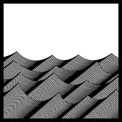 WAVES print (scratchmark) Tags: waves print kurtlightner gothenburg sweden abstract art konst kurt lightner