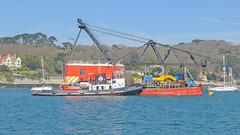 Tennaherdhya and Crane Barge BD-6074 at Falmouth (Tim Green aka atoach) Tags: cornwall falmouth