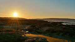 Sunrise in Porthcawl (Paula J James) Tags: sea beach rock southwales wales sunrise coast spring rocks beaches sunrises newton bridgend porthcawl treccobay 2015 ogmorebysea southeastwales newtonbeach merthyrmawrsanddunes walescoastpath april2015 spring2015