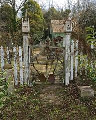 THE DEVIL'S GATE (NC Cigany) Tags: fence garden nc rust creepy artsy worn weathered salisbury shabby