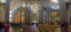 Sagrada_Familia_03 (sjnewton) Tags: colour architecture spain basilica eu fisheye gaudi april sagradafamilia ikon 2015 d600 sigma15mmf28exdgfisheye 28300mmf3556gvr