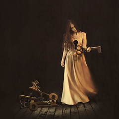 turnkey symphony (brookeshaden) Tags: selfportrait fairytale darkness surrealism conceptual selfportraiture whimsical warmlight fineartphotography darkart oldroom woodenfloors rembrantlighting classicpainting practicallight brookeshaden