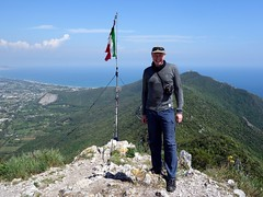 "Me beside the Italian flag on the summit of Monte Circeo • <a style=""font-size:0.8em;"" href=""http://www.flickr.com/photos/41849531@N04/16925225594/"" target=""_blank"">View on Flickr</a>"