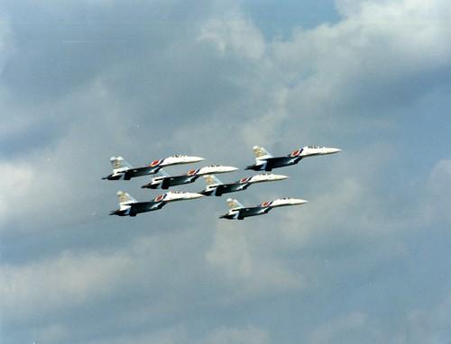 From flickr.com: Sukhoi Su-27 Sukhoi Su-27 air show 19932 {MID-71495}
