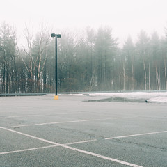 (zaygphoto) Tags: new snow fog nikon parking lot nh hampshire deadpan d90