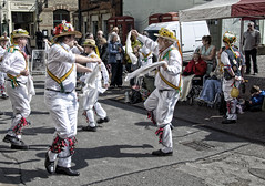wheelchair watchers (Shannock Boy) Tags: nottingham tribal marketplace newark morrisdancers forresters