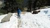 walking in the snow looks treacherous (satabpal) Tags: kedar tungnath chopta