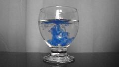 blue and grey (tornade_83) Tags: blue blackandwhite glass photography photo eau paint flickr photographie noiretblanc peinture bleu verre charlottehelye tornade83